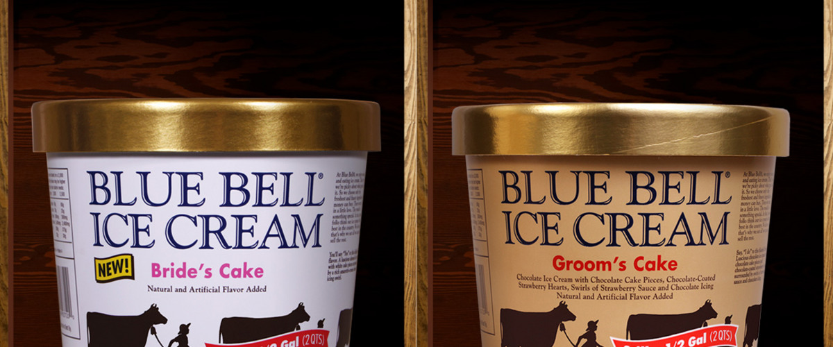 Blue Bell Introduces New <em>Bride's Cake</em> & <em>Groom's Cake</em> Ice Cream Flavors