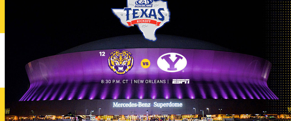 LSU Football Season-Opener Against BYU Moved to the Superdome