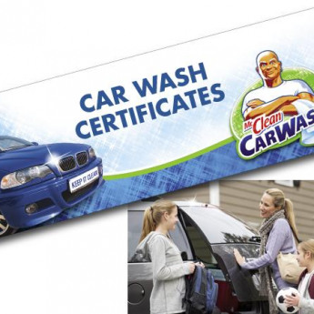 Free Car Wash when you buy 5