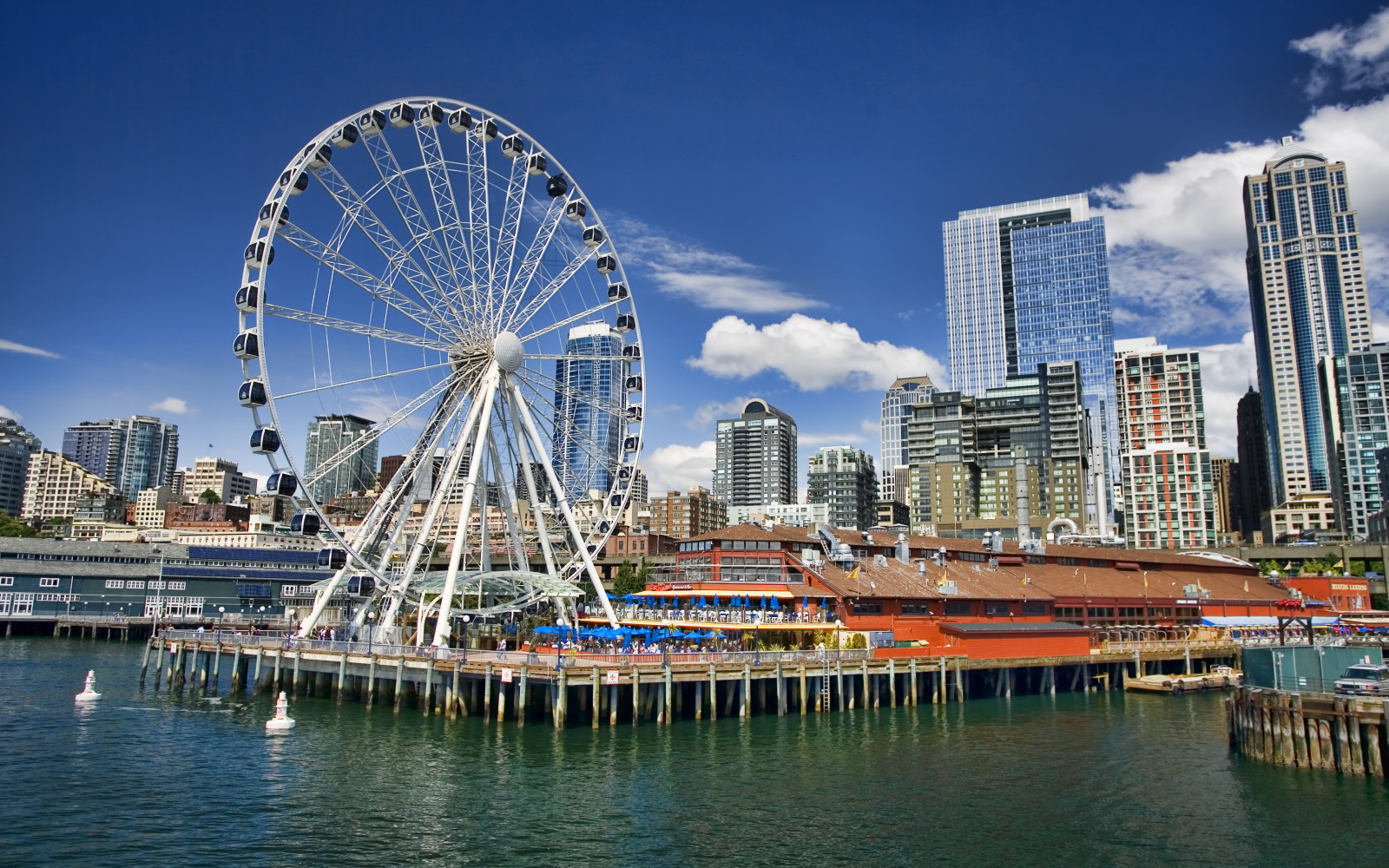 seattle s ferris wheel at pier 57 seattle great wheel