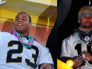 Moore, Thomas Named Newest Members of Saints Hall of Fame