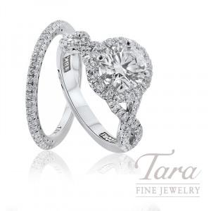 Tacori 18K White Gold Diamond Halo Wedding Set, 1.70TDW (Center Stone Sold Separately)