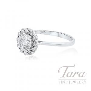 Forevermark Diamond Halo Engagement Ring, 1.01CT Round Diamond, .37TDW