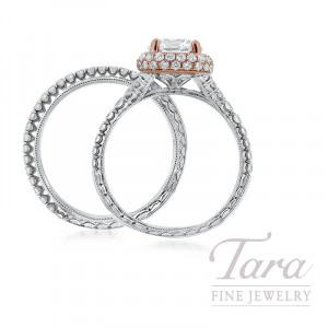 Jack Kelege 14k Rose Gold & 18k White Gold Diamond Wedding Set, 6.5G, 1.11TDW (Center Stone Sold Separately)
