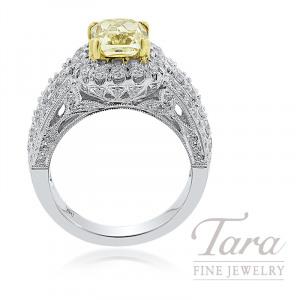 Forevermark 18K Two-Tone Fancy Yellow Diamond Engagement Ring, 2.03CT Fancy Yellow Diamond, 1.27TDW
