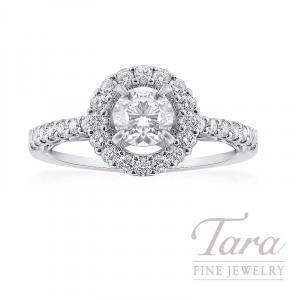 14K White Gold Halo Diamond Engagement Ring, 2.9G, .40TDW (Center Stone Sold Separately)