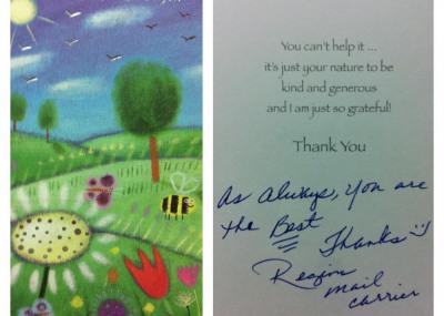 Thanks Regina, we appreciate your service!