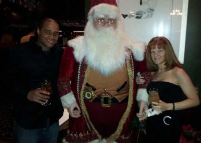 Jessi, husband and Santa