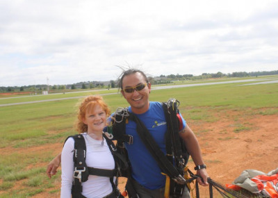 Jessi and her instructor, Lee