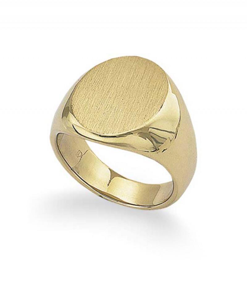 Men's  Signet Ring in 18K Yellow Gold, 35.6 grams