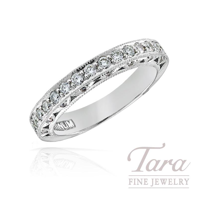 Tacori Diamond Wedding Band in Platinum, .45 TDW