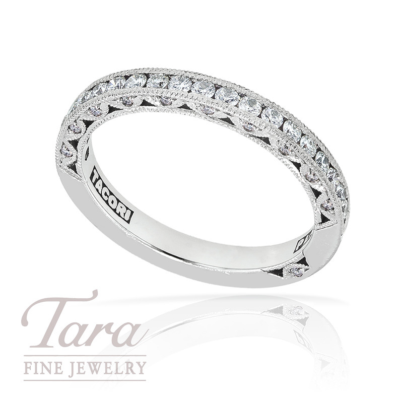 Tacori Diamond Wedding Band in Platinum, .43ct tw