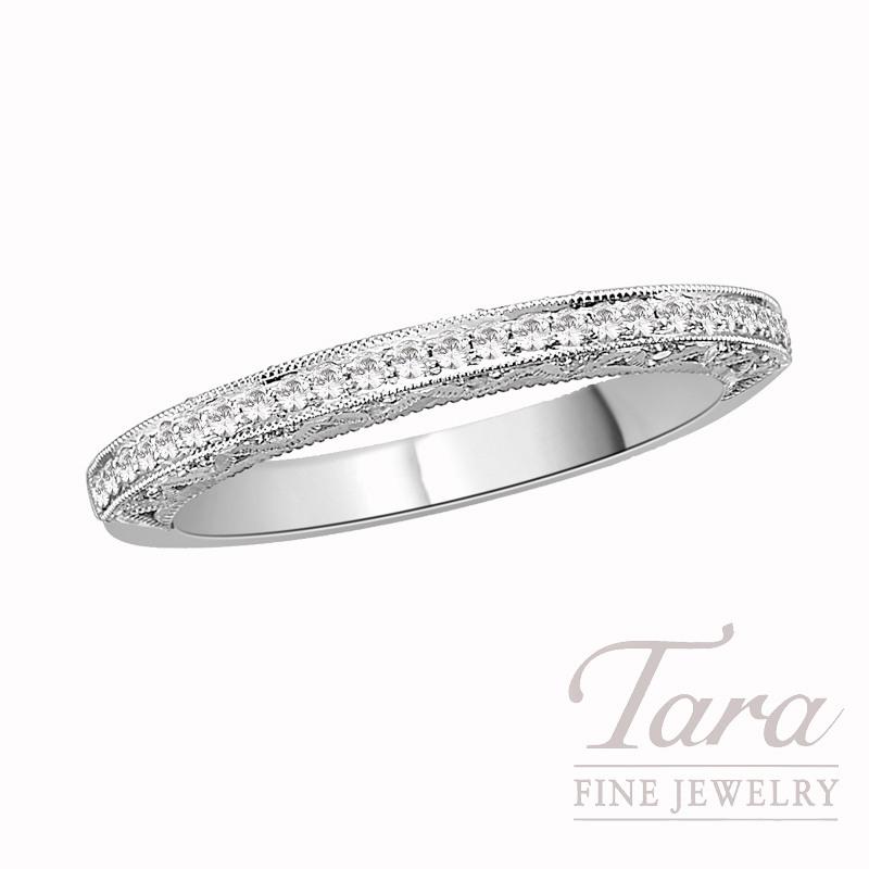 Tacori Diamond Wedding Band in 18K White Gold, .22 CT TW