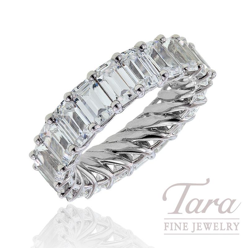A. Jaffe Diamond Wedding Band, 6.60 CT TW of Emerald Cut Diamonds