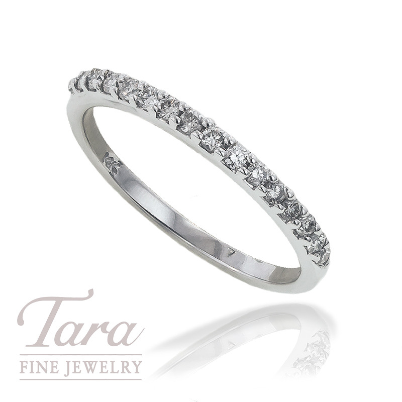 Diamond Band in 14K White Gold, .25 CT TW.