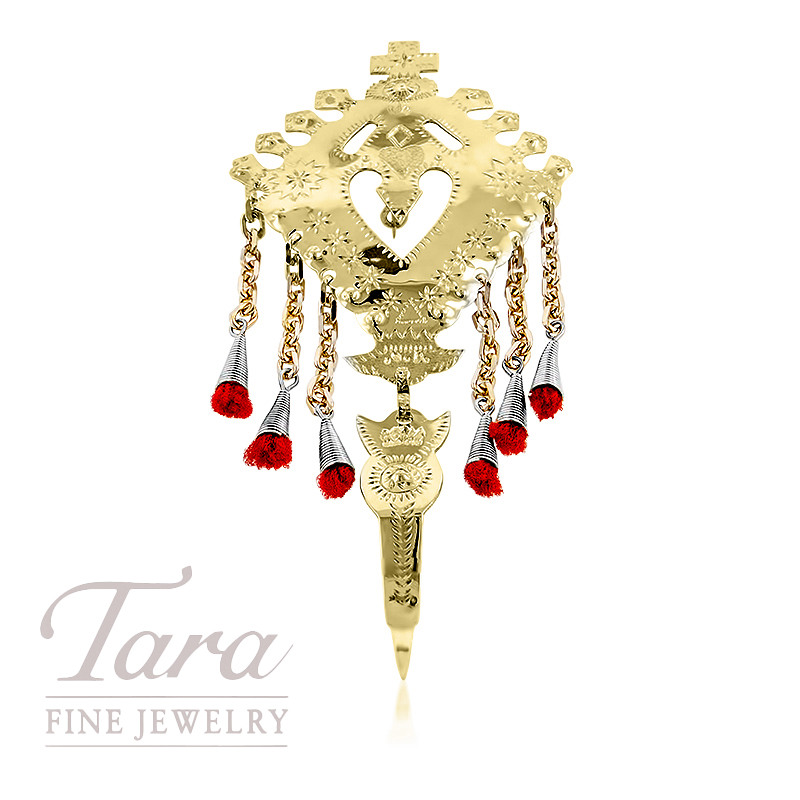 14K Estate Pin With Embellishments