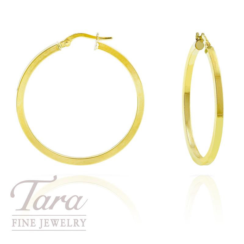 Hoop Earrings in 14k Yellow Gold,  2.5 grams