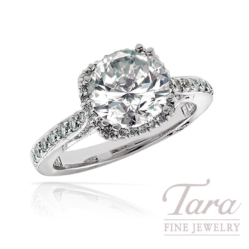 Tacori Diamond Engagement Ring in Platinum, .37tdw (Center Stone Sold Separately)