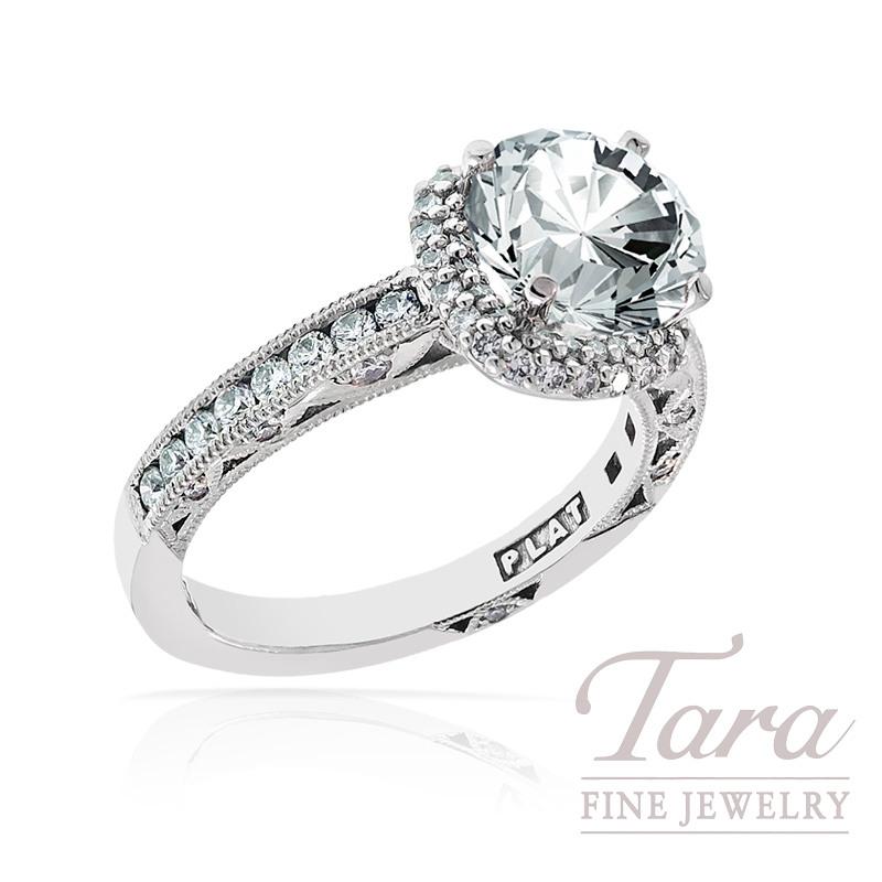 Tacori Diamond Engagement Ring in Platinum, .66 TDW (Center stone sold separately)