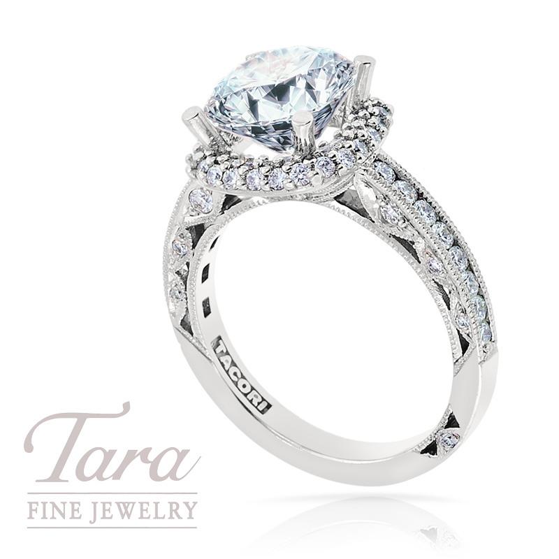 Tacori Diamond Engagement Ring in Platinum, .72TW (Center stone sold separately)