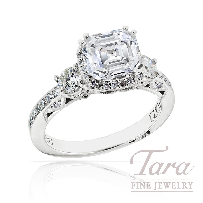 Tacori Diamond Engagement Ring in Platinum with Halo, .65ct tdw (Center stone sold separately)