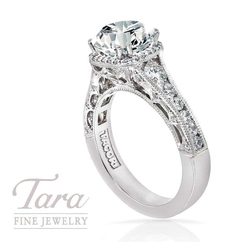 Tacori Diamond Engagement Ring in Platinum,  .80ct tdw (Center stone sold separately)