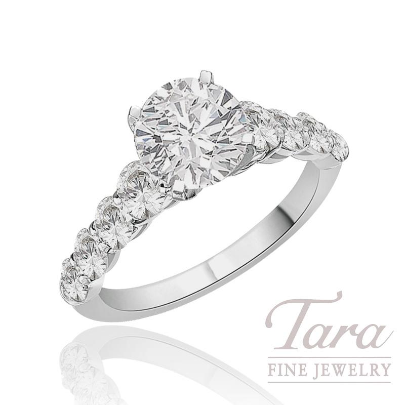 J.B. Star Diamond Engagement Ring in Platinum, 1.23 CT TW (Center stone sold separately).