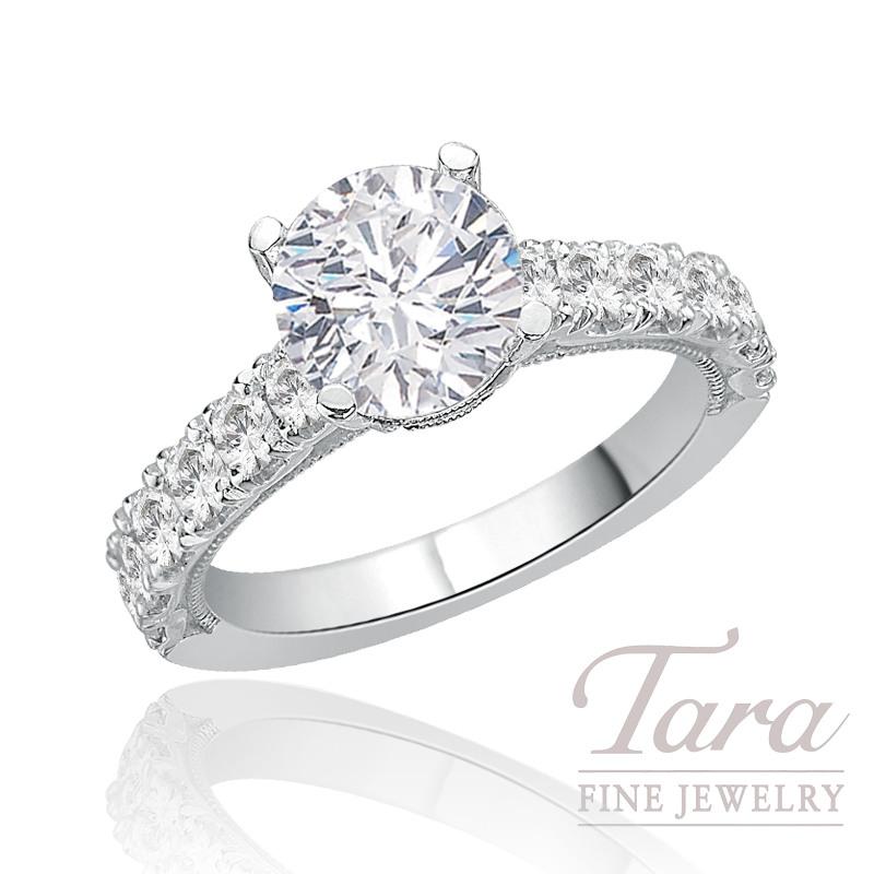 Tacori Diamond Engagement Ring in Platinum, 1.03 CT TW (Center stone sold separately).
