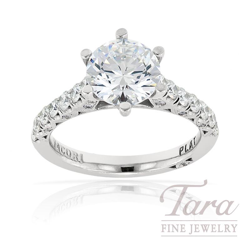 Tacori Diamond Wedding Ring in Platinum, .67ct tdw (Center stone sold separately)