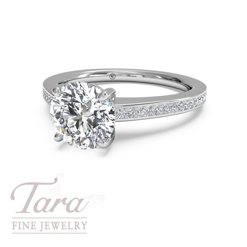 Ritani Classic Diamond Engagement Ring .25TDW (Center Stone Sold Separately)
