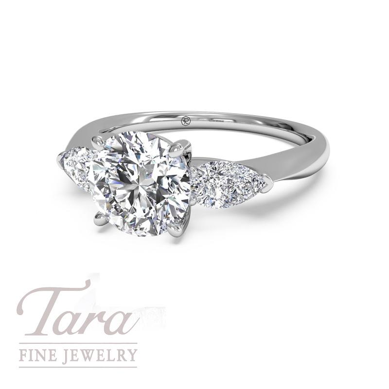 "Ritani ""Royal"" Diamond Engagement Ring in 18K White Gold .40TDW (Center Stone Sold Separately)"