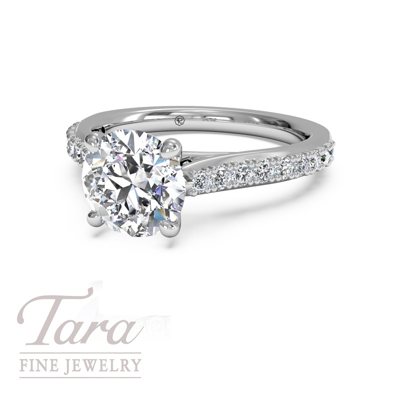 Ritani Diamond Engagement Ring in 18K White Gold .27TDW (Center Stone Sold Separately)