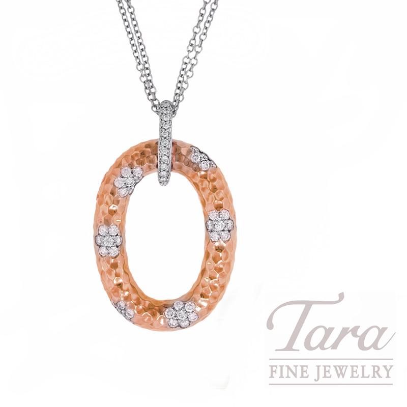 "Roberto Coin Diamond Pendant in 18kt Rose Gold, 1.85CT ""Martellato Collection"""