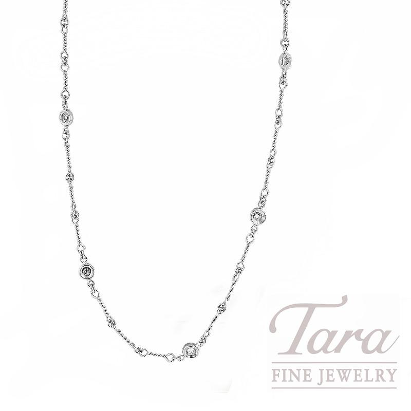 Roberto Coin 18K White Gold & Diamond Necklace, .28TDW