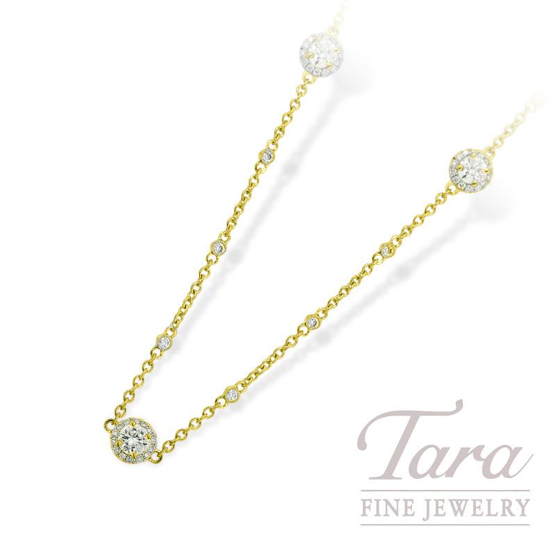 "Diamond Chain in 18K Yellow Gold, 6.45TDW, 38"""