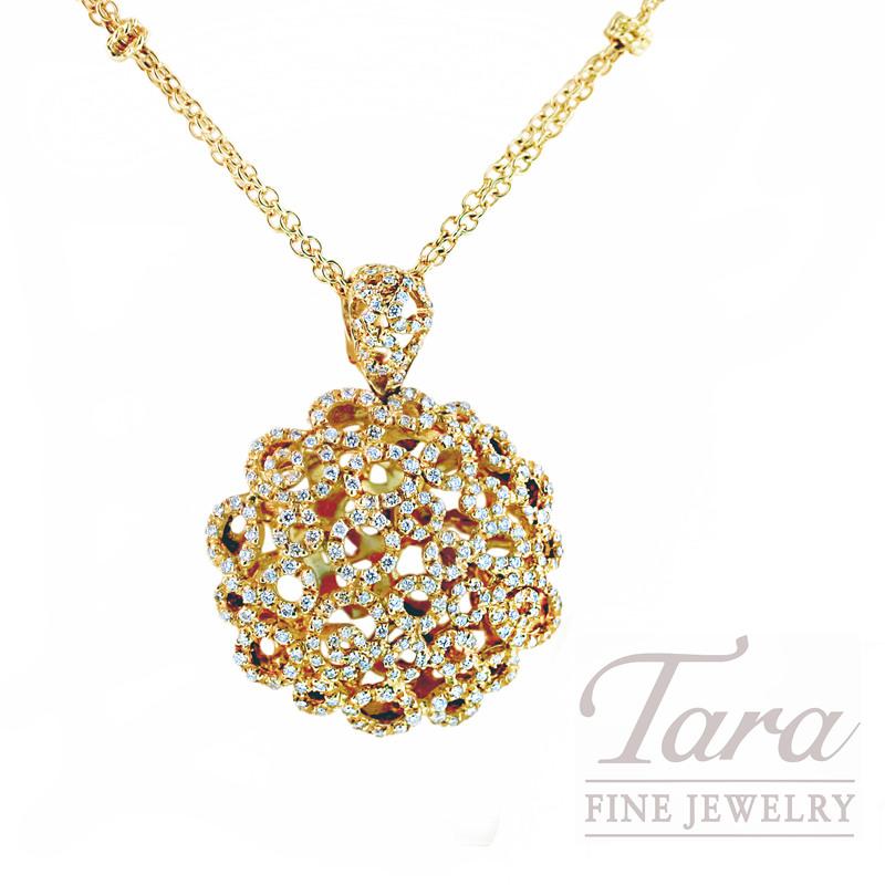 """Roberto Coin Diamond Pendant, 1.66TDW """"Mauresque Collection"""""""