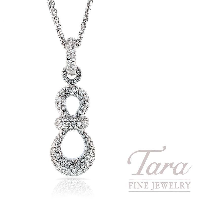 Hulchi Belluni Diamond Pendant in 18K White Gold, .92 TDW