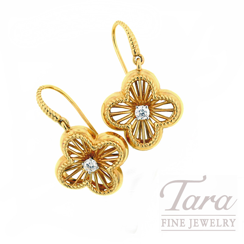 Roberto Coin Earrings with Diamonds in 18kt Yellow Gold,  .25CT TDW