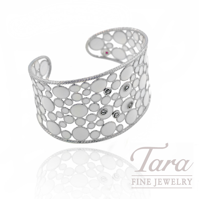 "Roberto Coin Bracelet,  .11CT, 18K White Gold, ""Bollicine Collection"""