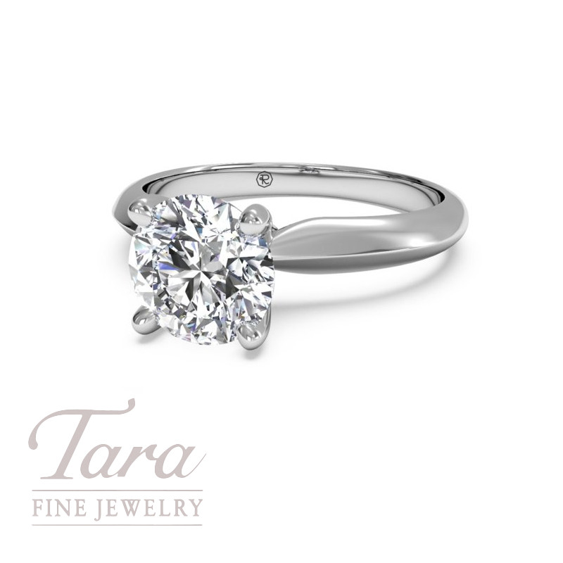 Ritani Classic Solitaire Engagement Ring in 18K White Gold (center stone sold separately)