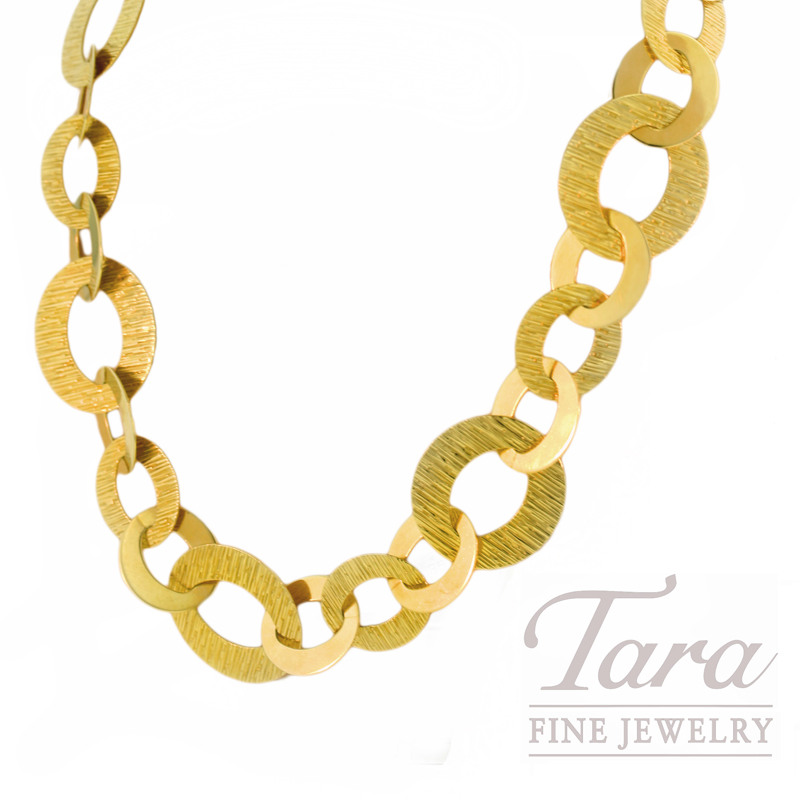 "Roberto Coin Link Necklace in 18kt Yellow Gold, ""Chic & Shine Collection"""