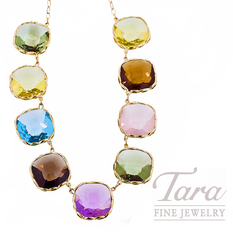 """Roberto Coin Gemstone Necklace in 18kt Yellow Gold, 93.0ct tgw, """"Impanema Collection"""""""