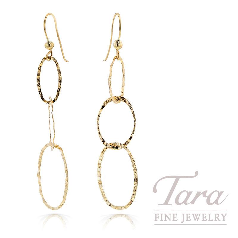 Link Earrings in 14K Yellow Gold, 1.5g