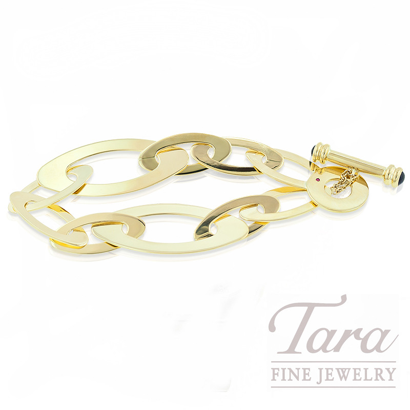 """Roberto Coin Link Brackelet in 18K Yellow Gold, """"Chic & Shine Collection"""""""