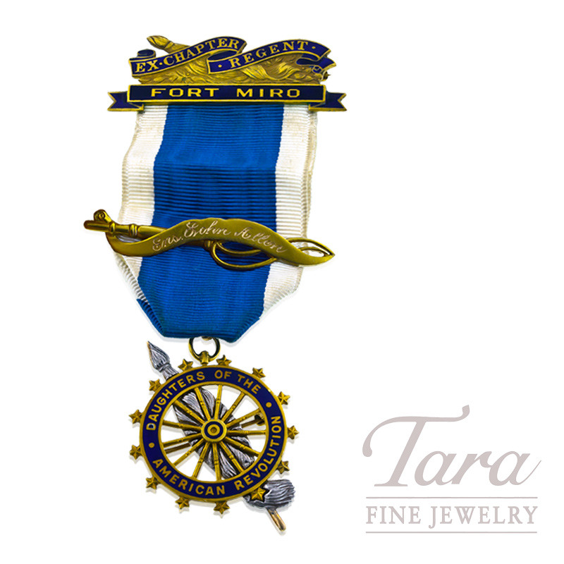 """Daughters of the American Revolution"" Pin in 14K Yellow Gold 14K Yellow Gold"