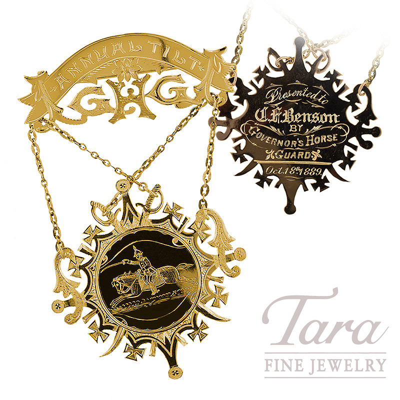 "Medal Circa ""1889"" in 10K Yellow Gold"