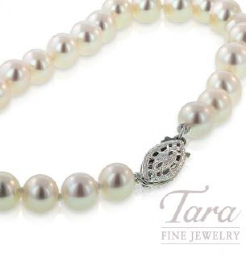 Freshwater Pearl Bracelet with Sterling Silver Clasp