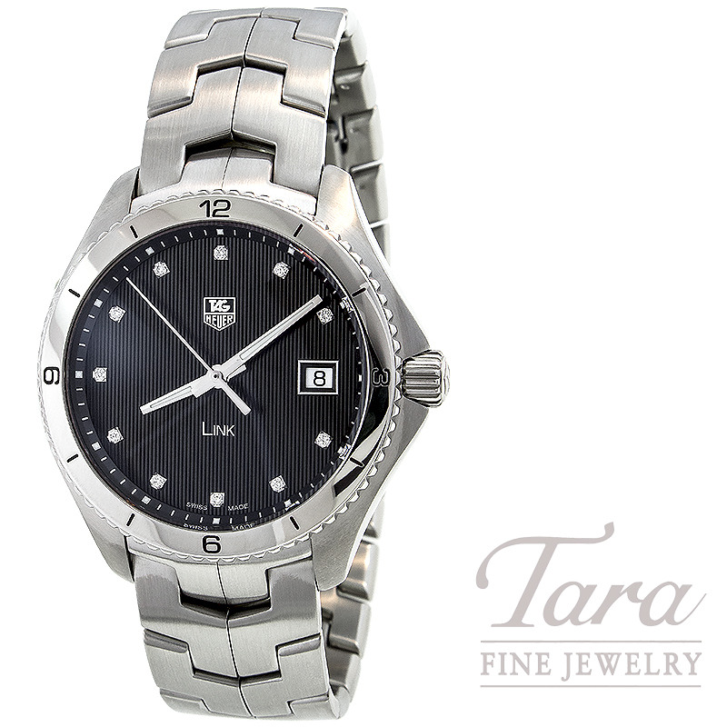 Tag Heuer Watch 40mm Link with Diamond Dial