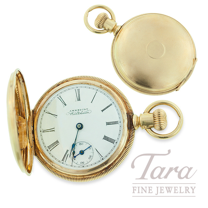 Pocket Watch by American Waltham in 14K Yellow Gold
