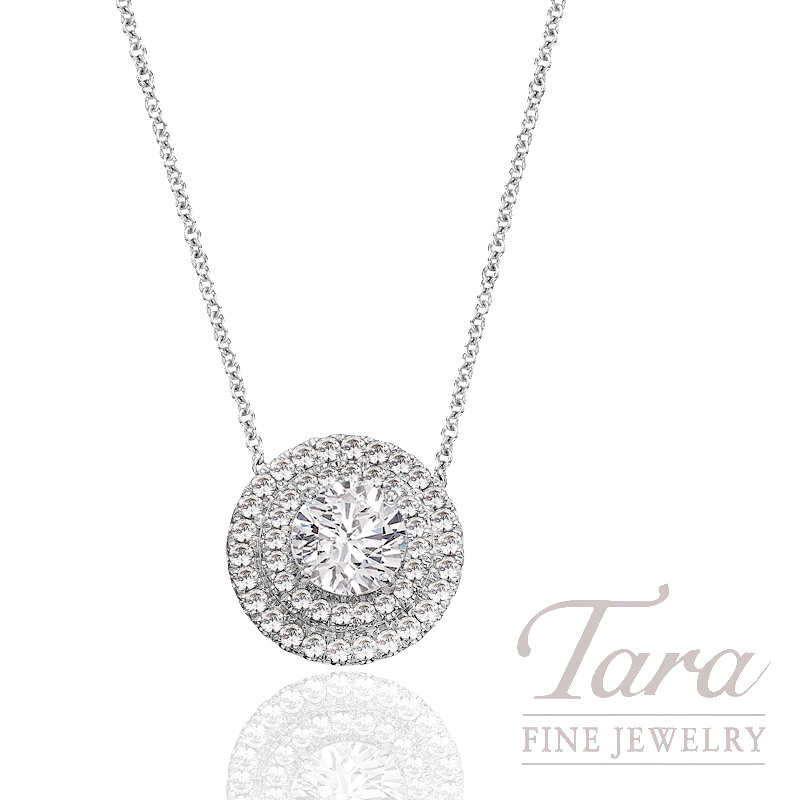 A. Jaffe Diamond Pendant with Chain (Center Stone Sold Separately) - Click for Available Sizes!